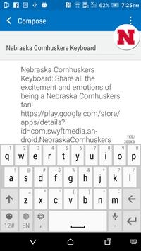 Nebraska Cornhuskers Keyboard apk screenshot