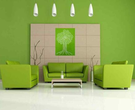 Ruang Tamu Warna Hijau Poster