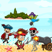 Jack the pirates adventure with lost world icon