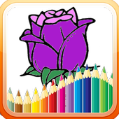Kids Coloring Flower Free icon