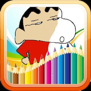 Shincan Coloring Book Free screenshot 1