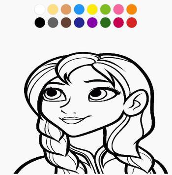 Coloring Cute Princess Free poster