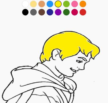 Coloring Cute Princess Free screenshot 1
