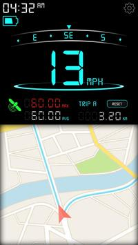 Digital Speedometer - GPS Speed - Mobile Speed KMH screenshot 1