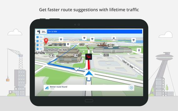 تطبيقات تنقل GPS والخرائط Sygic apk تصوير الشاشة