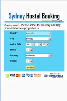 Sydney Hostel Booking 2 poster