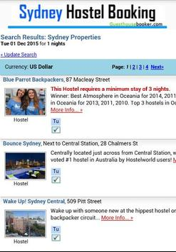 Sydney Hostel Booking 2 apk screenshot