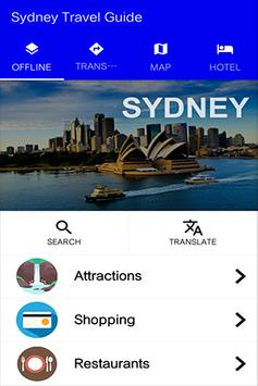 Sydney Travel Guide poster