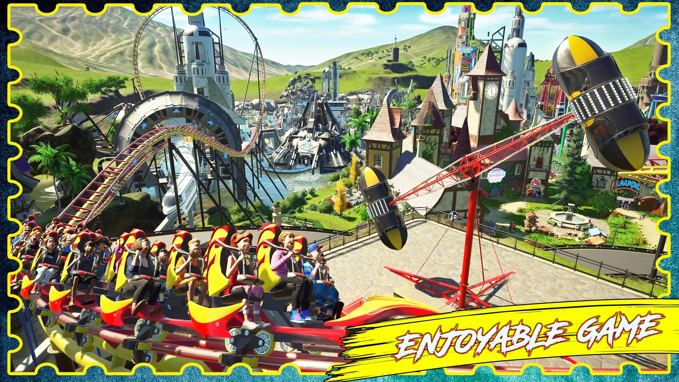 VR Roller Coaster Simulator 3D - Theme Park Tycoon for