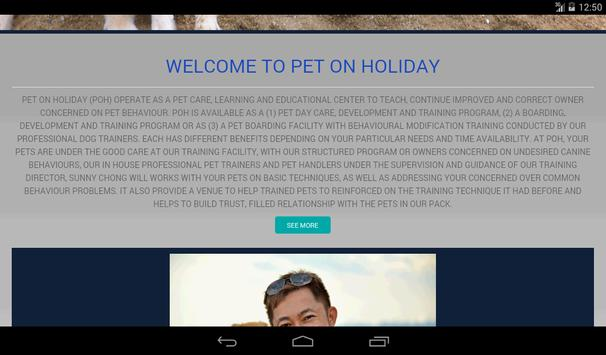 Pet On Holiday apk screenshot