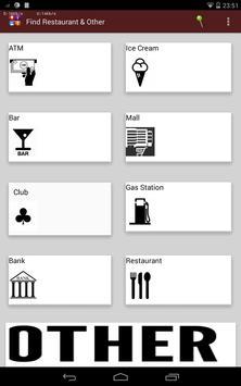Find restaurant  & others apk screenshot