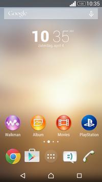 XPERIA™ Beige Theme screenshot 4