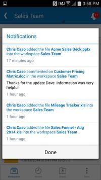 Synchronoss WorkSpace screenshot 4