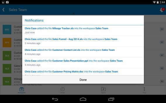 Synchronoss WorkSpace screenshot 9
