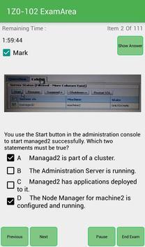 EA 1Z0-102 Oracle Exam apk screenshot