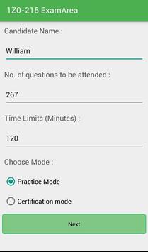 EA 1Z0-215 Oracle Exam apk screenshot