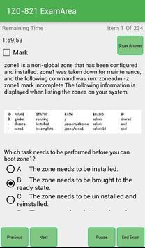 EA 1Z0-821 Oracle Exam apk screenshot