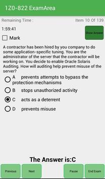 EA 1Z0-822 Oracle Exam apk screenshot