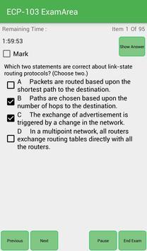 EA ECP-103 Ericsson Exam screenshot 2