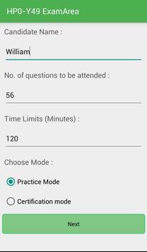 EA HP0-Y49 HP Exam screenshot 1