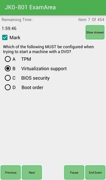 EA JK0-801 CompTIA Exam screenshot 13