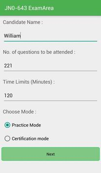 EA JN0-643 Juniper Exam apk screenshot