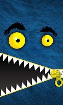 Monster Zipper Lock Screen apk screenshot