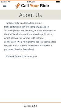 Call Your Ride - Partner screenshot 4