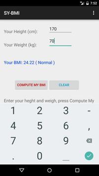 SYC51 BMI Calculator apk screenshot