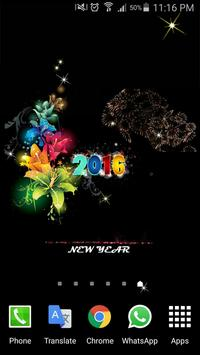 2016 New Year HD Livewallpaper poster