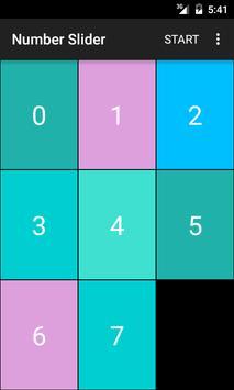 Number Slider Puzzle poster