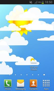 Sun and Clouds Free Live Wallpaper poster