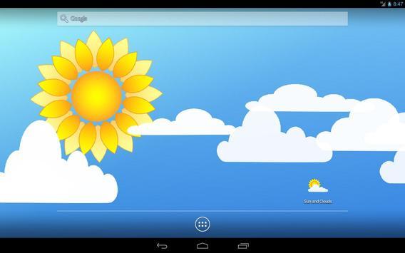 Sun and Clouds Free Live Wallpaper apk screenshot