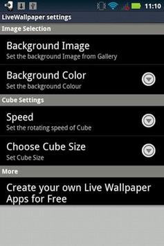 Dice Live Wallpaper apk screenshot