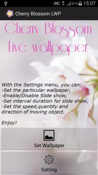 Cherry Blossom Live Wallpaper apk screenshot