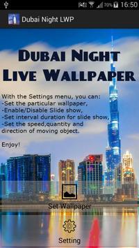 Dubai Night Live Wallpapers poster