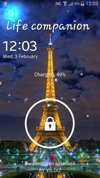 Eiffel Tower Night Light LWP apk screenshot