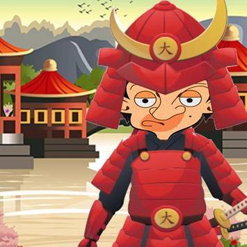 mr pean samurai adventure dash poster