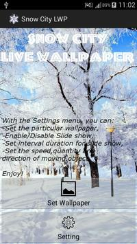 Snow City Live Wallpaper poster