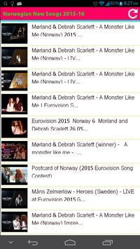 Norwegian New Songs 2015 apk screenshot