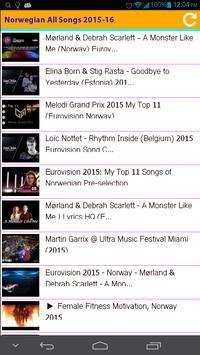 Norwegian All Songs 2015 apk screenshot