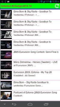 Estonian All Songs 2015 apk screenshot