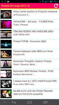 Finnish All Songs 2015 apk screenshot