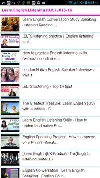 Learn English Listening UK poster