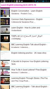 Learn English Listening UK apk screenshot