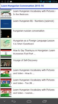 Learn Hungarian Conversation apk screenshot