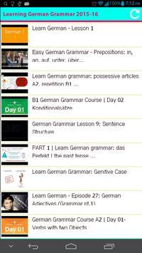 Learning German Grammar 2015 poster