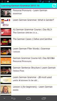 Learning German Grammar 2015 apk screenshot