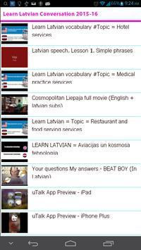 Learn Latvian Conversation apk screenshot
