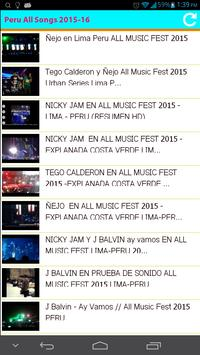 Peru All Songs 2015 poster